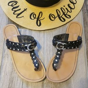 G by Guess Shoes - Guess T strap sandals